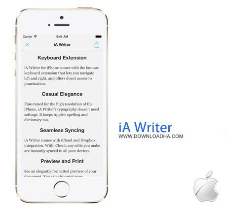 iA Writer نرم افزار تایپ آسان و سریع iA Writer 2.0 – آیفون ، آیپد و آیپاد