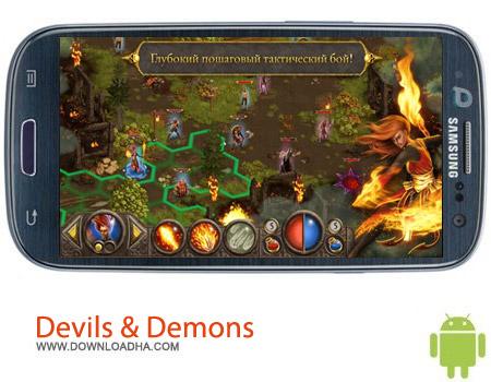Devils %26 Demons v1.0.10 بازی استراتژی مبارزه با شیاطین Devils & Demons v1.0.10 مخصوص اندروید