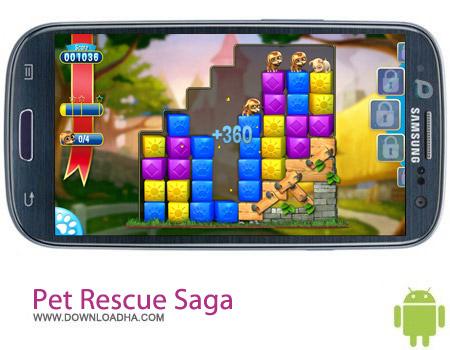 بازی نجات حیوانات Pet Rescue Saga v1.40.2 مخصوص اندروید