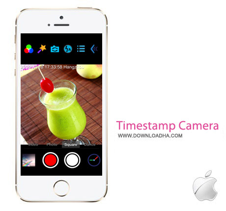 Timestamp Camera Pro 1.7 نرم افزار ویرایش تصاویر Timestamp Camera Pro v1.7 مخصوص آیفون ، آیپد و آیپاد