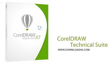 CorelDRAW Designer Technical Suite X7 نرم افزار طراحی حرفه ای CorelDRAW Technical Suite X7 17.4