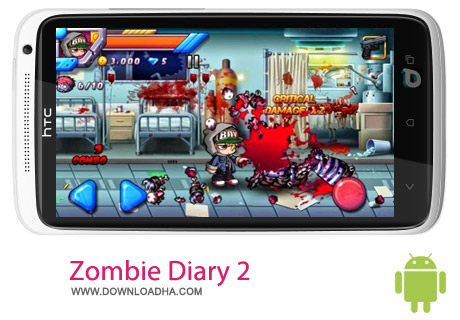 Zombie Diary 2 بازی خاطرات زامبی Zombie Diary 2:Evolution v1.1.2 مخصوص اندروید