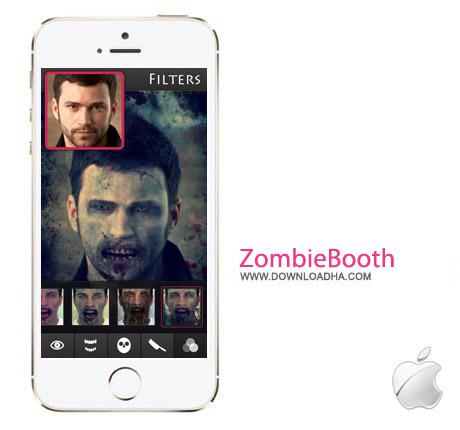 نرم افزار تبدیل چهره به زامبی ZombieBooth 2 v1.42 مخصوص آیفون و آیپاد