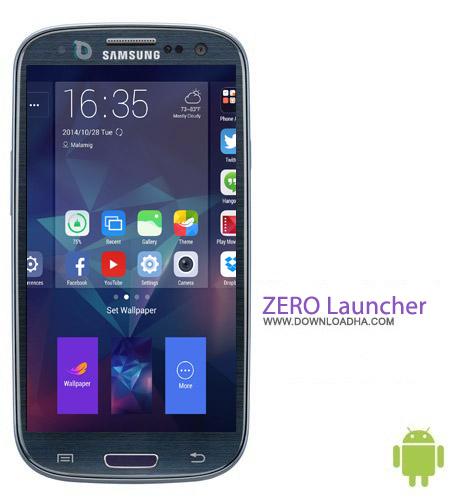 ZERO Launcher v2.4 نرم افزار لانچر ZERO Launcher v2.4 مخصوص اندروید