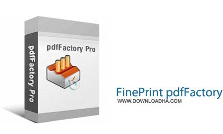 نرم افزار ساخت آسان فایل های PDF با pdfFactory 5.28