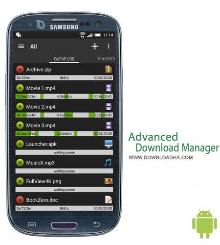 Advanced Download Manager v4.1.6 نرم افزار دانلود منیجر Advanced Download Manager v4.1.6 مخصوص اندروید