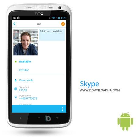 Skype%20v5.4.0.4165 نرم افزار تماس اینترنتی اسکایپ Skype v5.4.0.4165 مخصوص اندروید