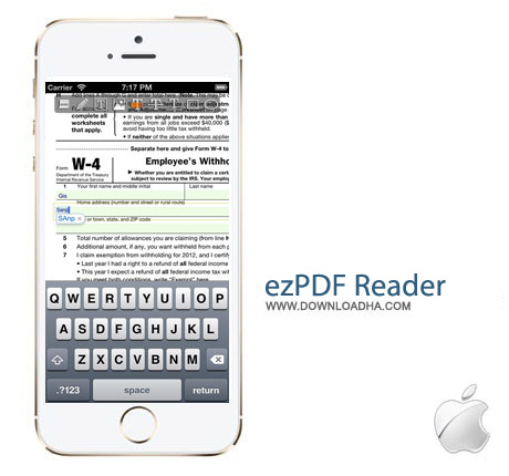 ezPDF Reader 2.303 نرم افزار مشاهده پی دی اف ezPDF Reader v2.303 مخصوص آیفون و آیپد