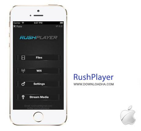 RushPlayer 1.8 نرم افزار پلیر قدرتمند RushPlayer v1.8.0 مخصوص آیفون و آیپد