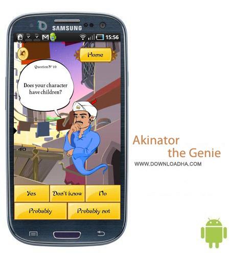 Akinator the Genie v3.41 نرم افزار خواندن ذهن Akinator the Genie v3.41 مخصوص اندروید