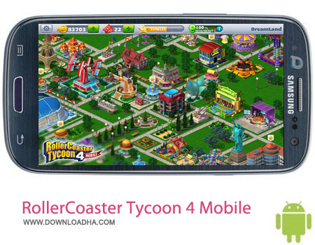 RollerCoaster Tycoon 4 Mobile v1.5.3 بازی مدیریت شهربازی RollerCoaster Tycoon 4 Mobile v1.5.3 مخصوص اندروید