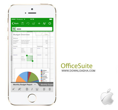 OfficeSuite 3.7 نرم افزار آفیس OfficeSuite Pro 3.7 مخصوص آیفون و آیپد