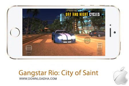 Gangstar Rio City of Saint بازی جنایی Gangstar Rio: City of Saints v1.4.1 مخصوص آیفون ، آیپد و آیپاد