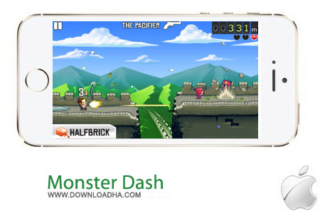 Monster Dash 1.4 بازی اکشن Monster Dash v1.40 مخصوص آیفون ، آیپد و آیپاد