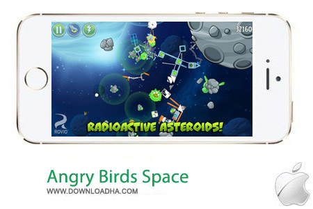 Angry Birds Space 2.0 بازی پرندگان خشمگین در فضا Angry Birds Space v2.0.1 مخصوص آیفون و آیپد