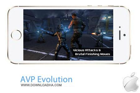 AVP Evolution 2.2 بازی اکشن AVP: Evolution v2.2 مخصوص آیفون ، آیپد و آیپاد