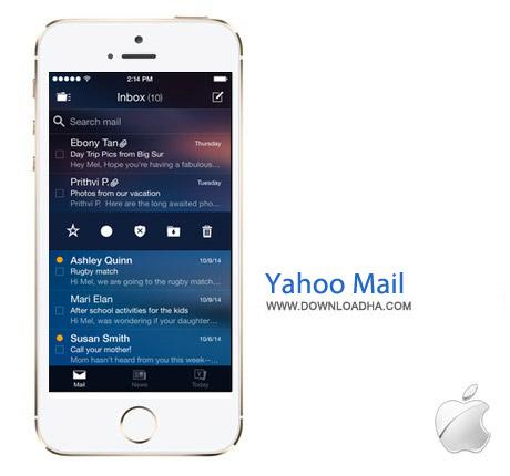 Yahoo Mail 3.2 نرم افزار مدیریت ایمیل یاهو Yahoo Mail v3.2.2 مخصوص آیفون و آیپد