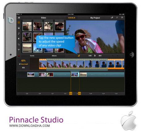 Pinnacle Studio 5.2 نرم افزار ویرایش حرفه ای فیلم Pinnacle Studio v5.2 مخصوص آیفون ، آیپد و آیپاد