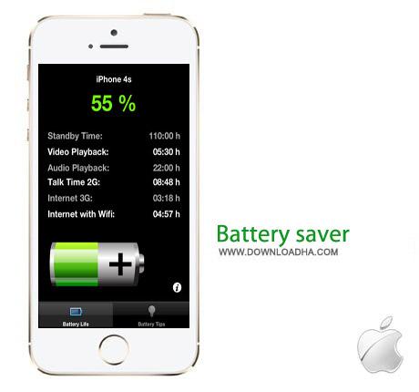 Battery saver 1.1 نرم افزار افزایش طول عمر باطری Battery Saver v1.1 مخصوص آیفون ، آیپد و آیپاد