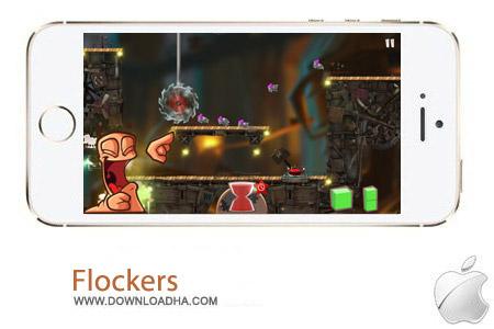 Flockers 1.998 بازی فکری Flockers v1.988 مخصوص آیفون ، آیپد و آیپاد