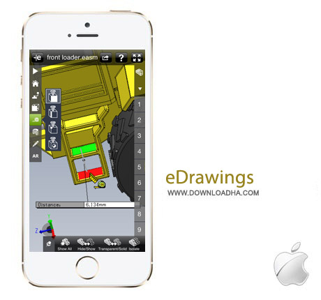 eDrawings Pro 3.3 نرم افزار مهندسی eDrawings Pro v3.3.1 مخصوص آیفون و آیپد