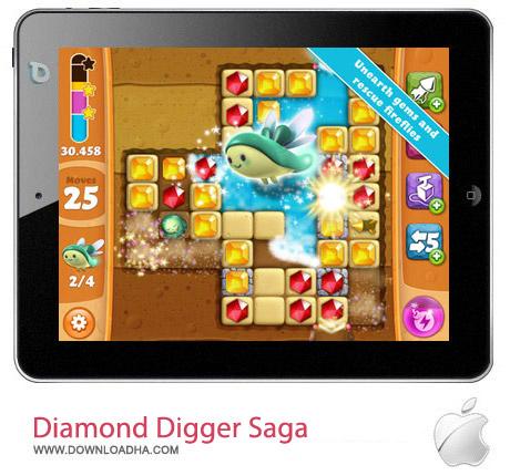Diamond Digger Saga 1.10 بازی جویندگان الماس Diamond Digger Saga v1.10.0 مخصوص آیفون ، آیپد و آیپاد