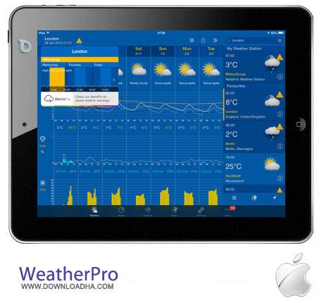 WeatherPro 3.5 نرم افزار هواشناسی WeatherPro v3.5.1 مخصوص آیفون و آیپد