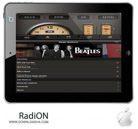 RadiON 2.0 نرم افزار رادیوی اینترنتی RadiON v2.0.6 مخصوص آیفون و آیپد