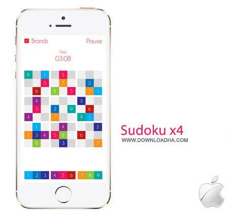 Sudoku x4 1.0 بازی سودوکو Sudoku x4 v1.0 مخصوص آیفون و آیپد
