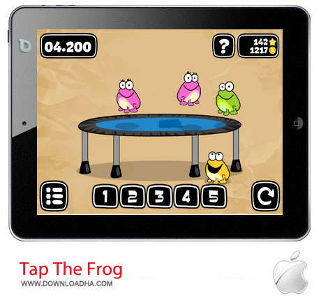 Tap The Frog 1.2 بازی پرش قورباغه Tap The Frog v1.2 مخصوص آیفون ، آیپد و آیپاد
