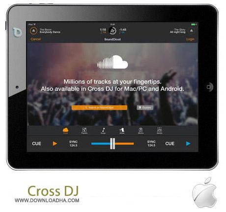 Cross DJ 2.1 نرم افزار میکس دی جی Cross DJ v2.1 مخصوص آیپد