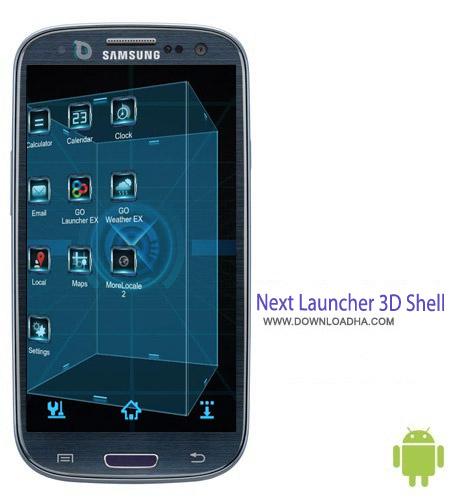 Next%20Launcher%203D%20Shell%20v3.7 نرم افزار لانچر Next Launcher 3D Shell Apk 3.7 مخصوص اندروید