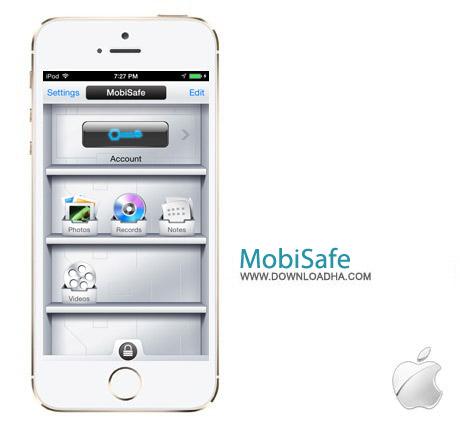MobiSafe 3.0 نرم افزار رمزگذاری روی فایل ها MobiSafe v3.0 مخصوص آیفون و آیپد
