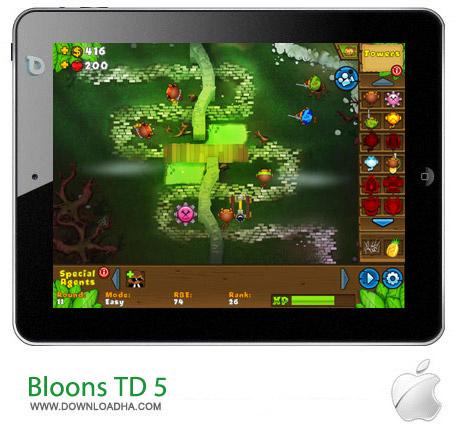 Bloons TD 5 HD 2.15 بازی دفاعی Bloons TD 5 HD v2.15 مخصوص آیپد