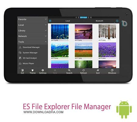 ES File Explorer File Manager V4.0.2.2 نرم افزار مدیریت فایل ES File Explorer File Manager v4.0.2.2 مخصوص اندروید