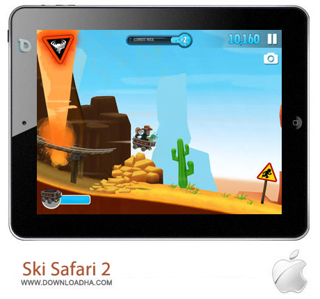 Ski Safari 2 1.0.1 بازی اسکی سواری Ski Safari 2 1.0.1 مخصوص آیفون ، آیپد و آیپاد