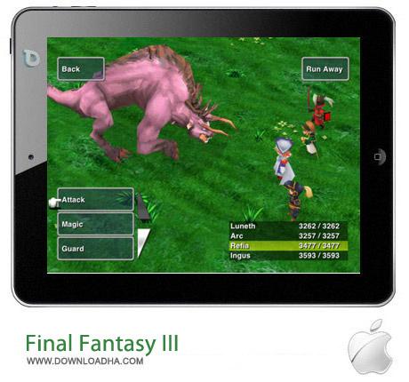 Final Fantasy III v1.7.3 بازی فاینال فانتزی Final Fantasy III v1.7.3 مخصوص آیفون ، آیپد و آیپاد