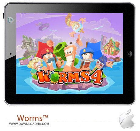 Worms%99 4 1.03 بازی استراتژیک کرم ها Worms™ 4 1.03 مخصوص آیفون ، آیپد و آیپاد