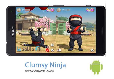 Clumsy%20Ninja%20v1.18.0 بازی نینجا سر به هوا Clumsy Ninja v1.18.0 مخصوص اندروید
