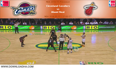 NBA.2014.10.11.Heat.Cavaliers.Cover دانلود مسابقات ان بی ای   NBA 2014.10.11 Cleveland Cavaliers Vs Miami Heat